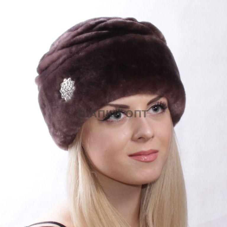 Женская зимняя шапка из мутона